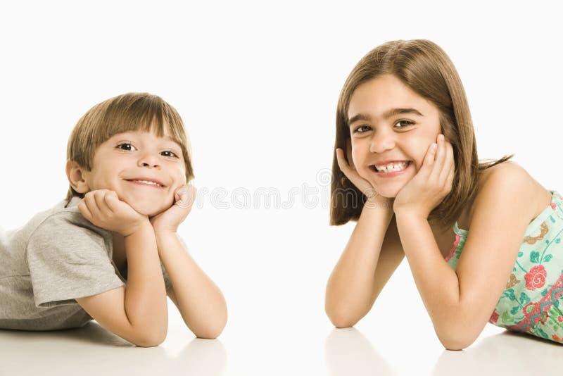 Sorriso das crianças. fotografia de stock royalty free