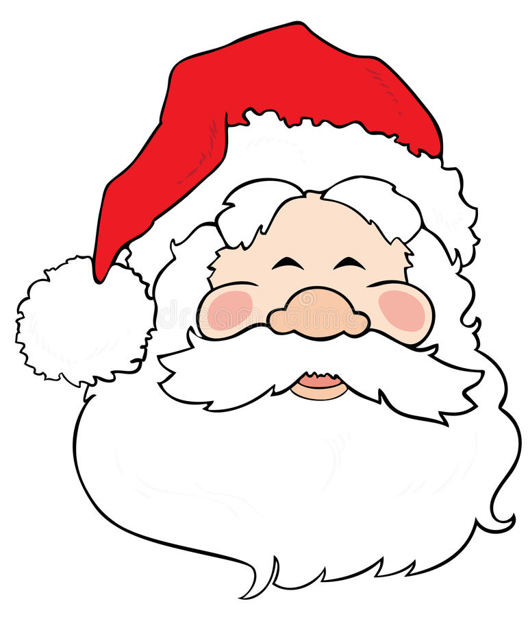 Sorriso de Papai Noel. ilustração royalty free
