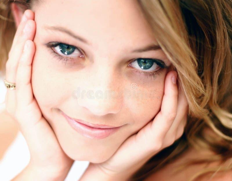 Sorriso de um anjo imagens de stock