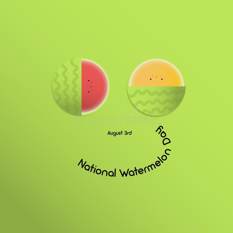 Sorriso dell'anguria alla festa nazionale delle angurie, 3 August Juicy, estate, le angurie luminose di due colori, rosso - class fotografia stock libera da diritti