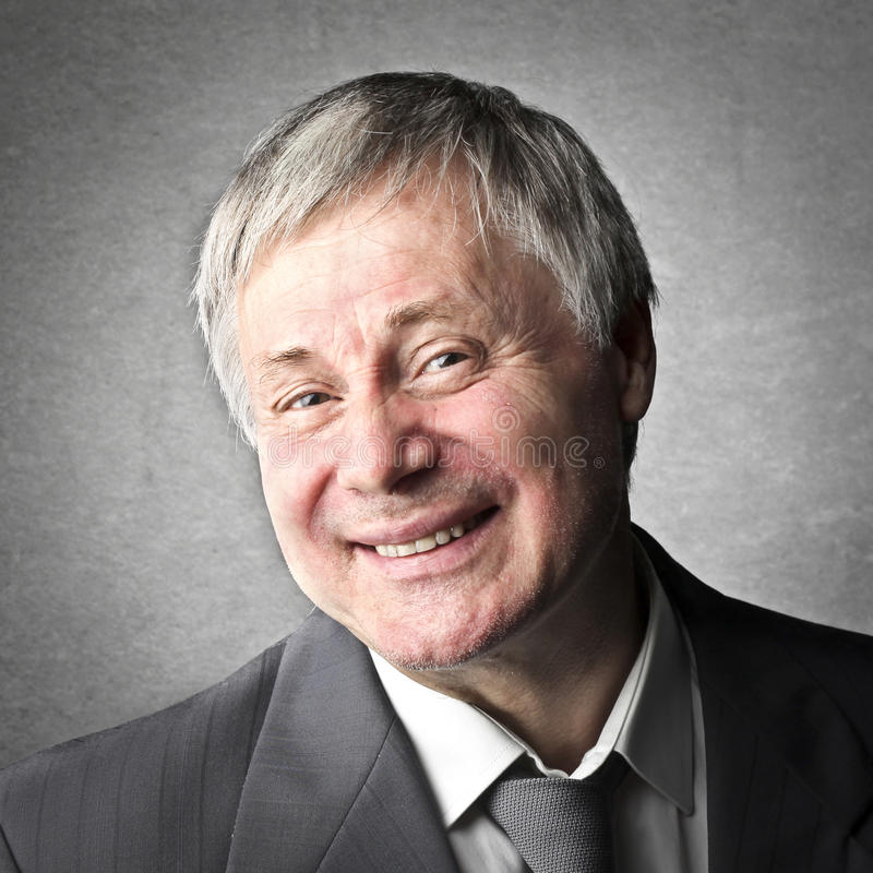 Sorriso dell'uomo anziano fotografie stock