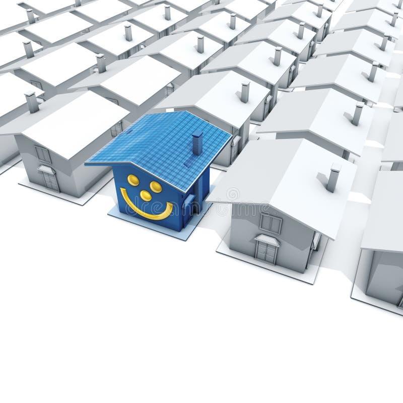Sorriso della Camera e fotovoltaico illustrazione di stock