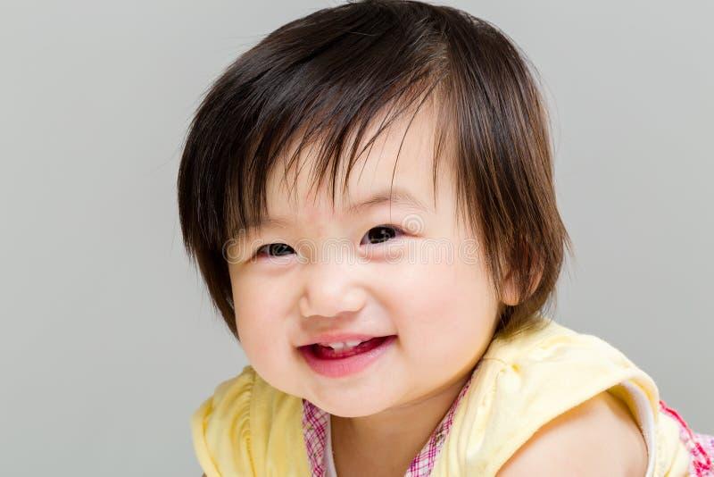Sorriso della neonata immagine stock