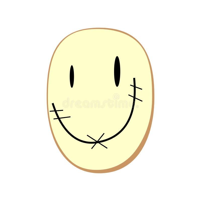 Sorriso desconhecido da cara fotos de stock royalty free