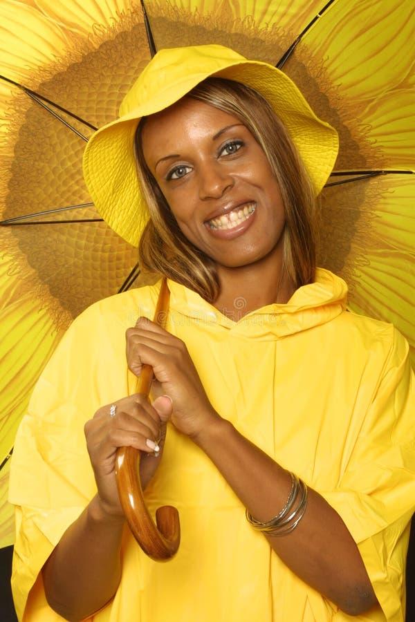Sorriso Di Giorno Piovoso Fotografia Stock Libera da Diritti