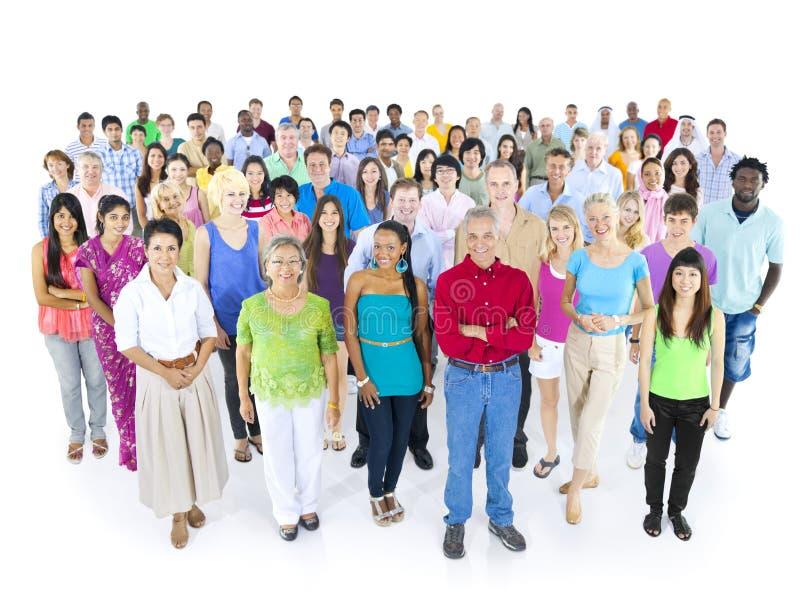 Sorriso diverso do grupo de pessoas foto de stock royalty free