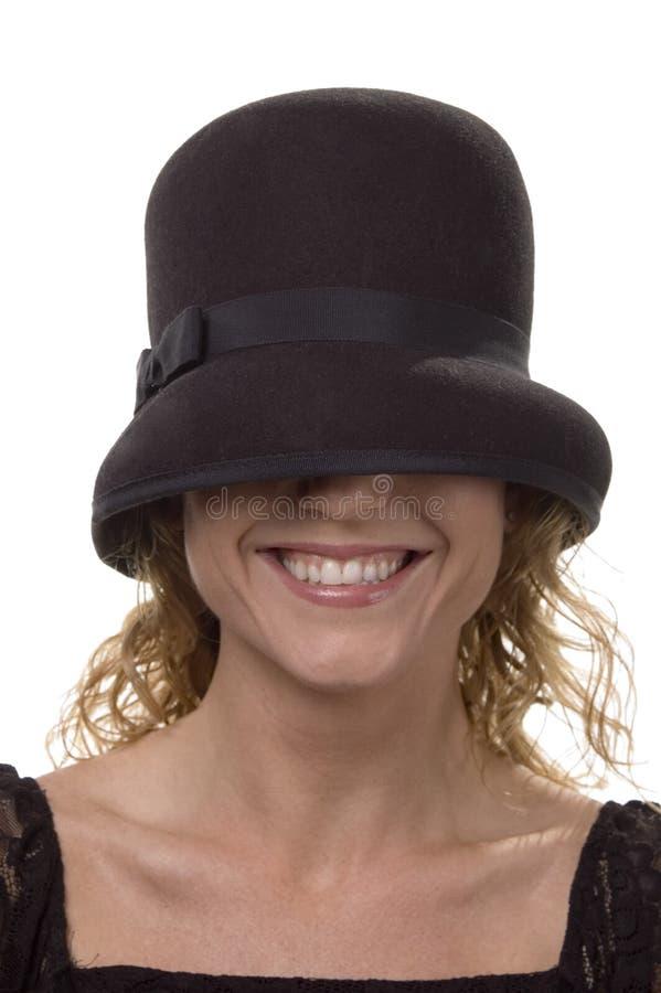Sorriso do chapéu fotografia de stock royalty free