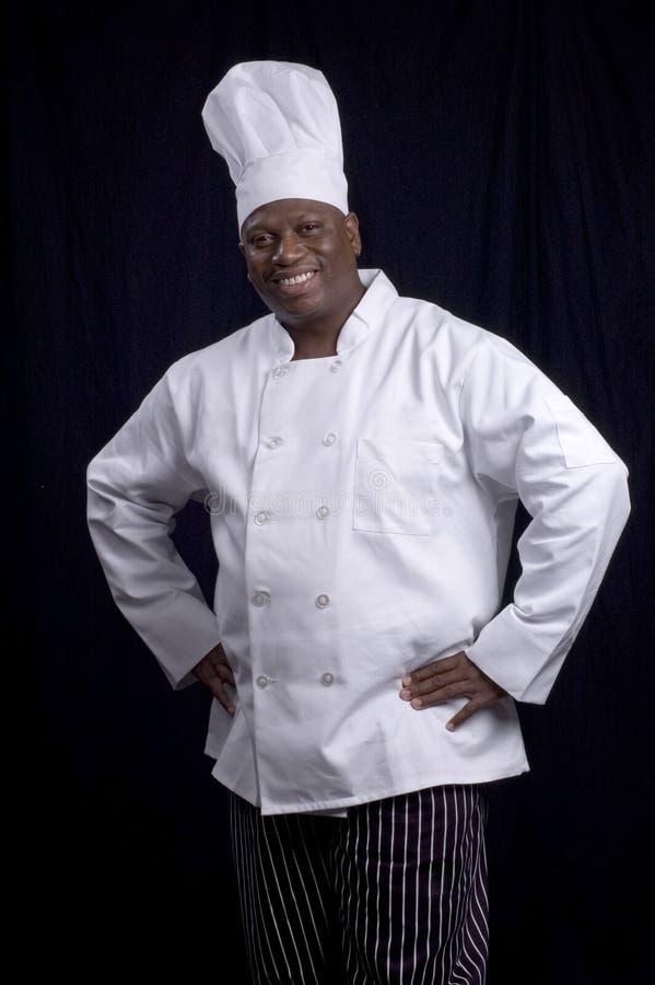 Sorriso do cozinheiro chefe imagens de stock