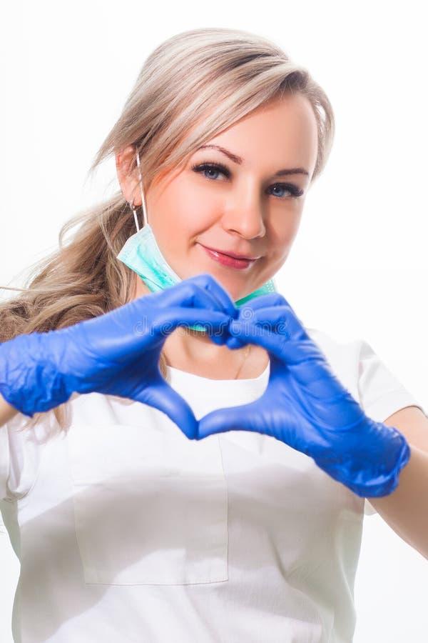 Sorriso do dentista da mulher imagens de stock
