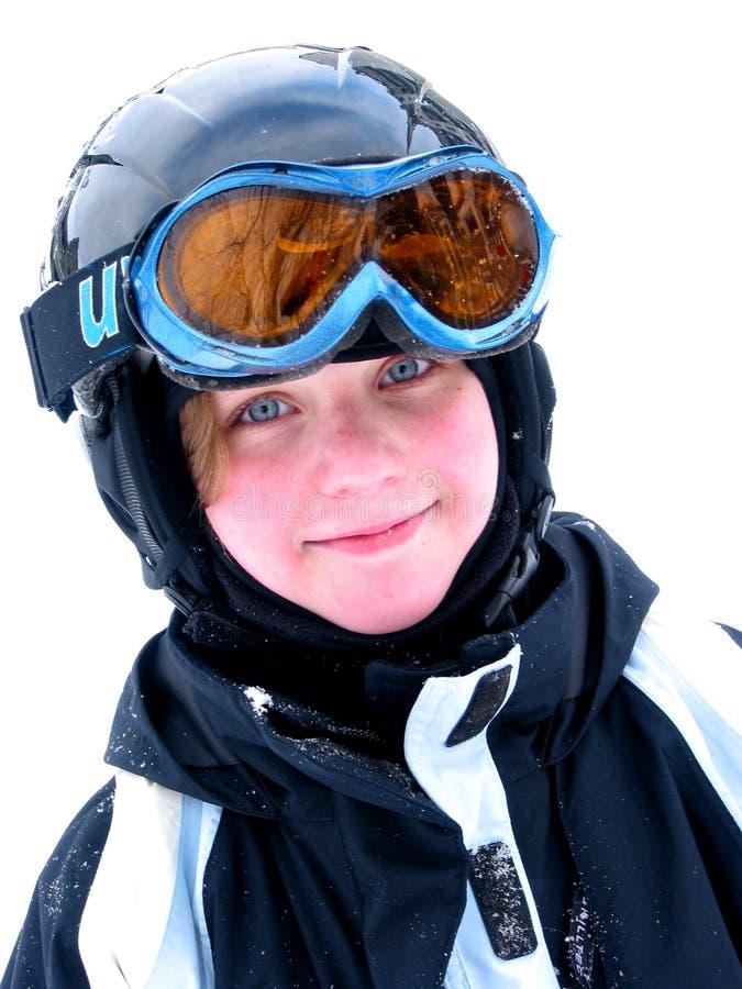 Download Sorriso do esqui da menina foto de stock. Imagem de aprecíe - 536542