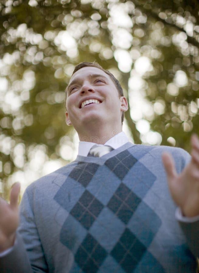 Sorriso do homem fotografia de stock
