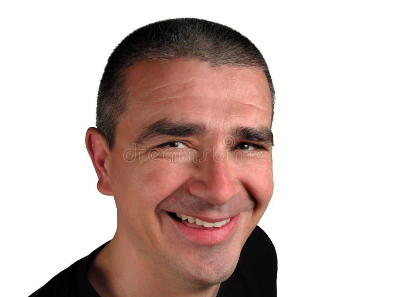 Sorriso do homem foto de stock royalty free