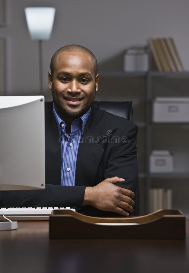 Sorriso do homem de negócio. fotos de stock