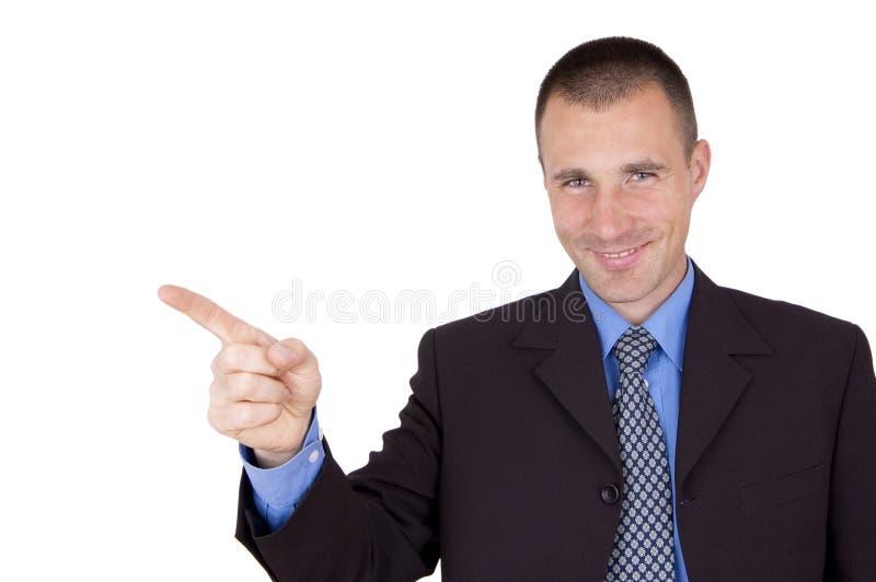 Sorriso do homem de negócio foto de stock royalty free
