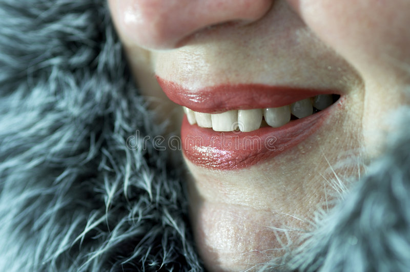 Sorriso do inverno fotografia de stock