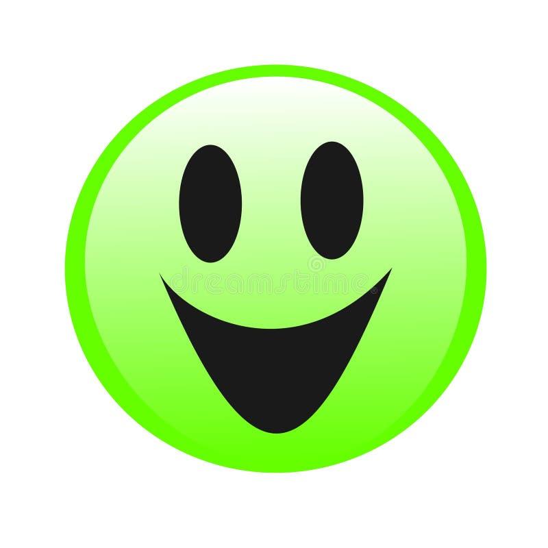 Sorriso do logotipo, sorriso da felicidade ilustração do vetor