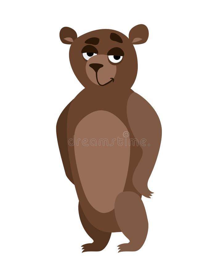 Sorriso do urso dos desenhos animados ilustração stock