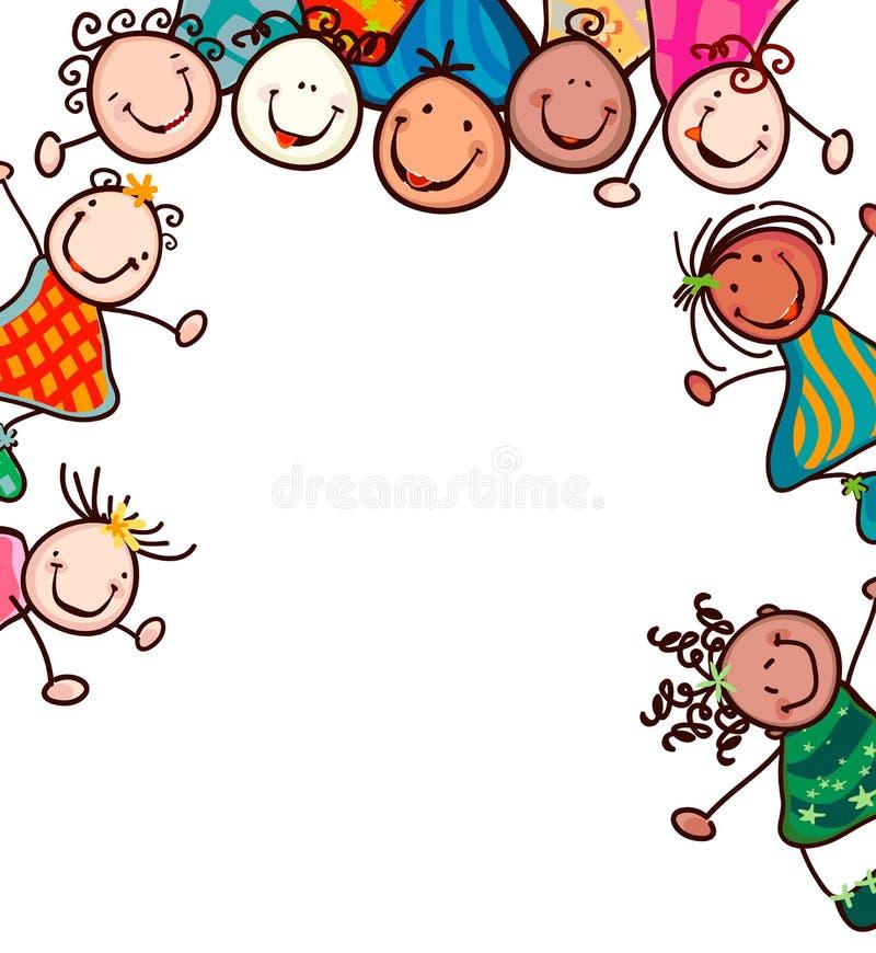 Sorriso dos miúdos ilustração royalty free