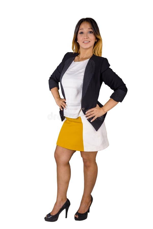 Sorriso egípcio da mulher do negócio completo do corpo foto de stock royalty free