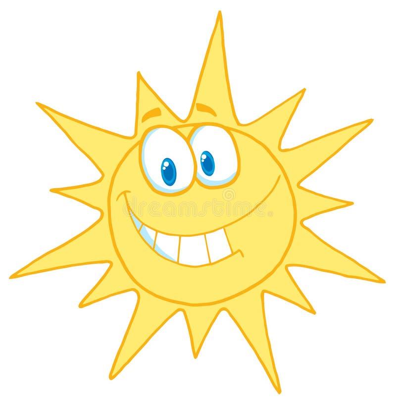 Sorriso ensolarado da face ilustração do vetor