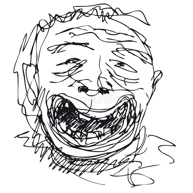 Sorriso estúpido (vetor) ilustração royalty free
