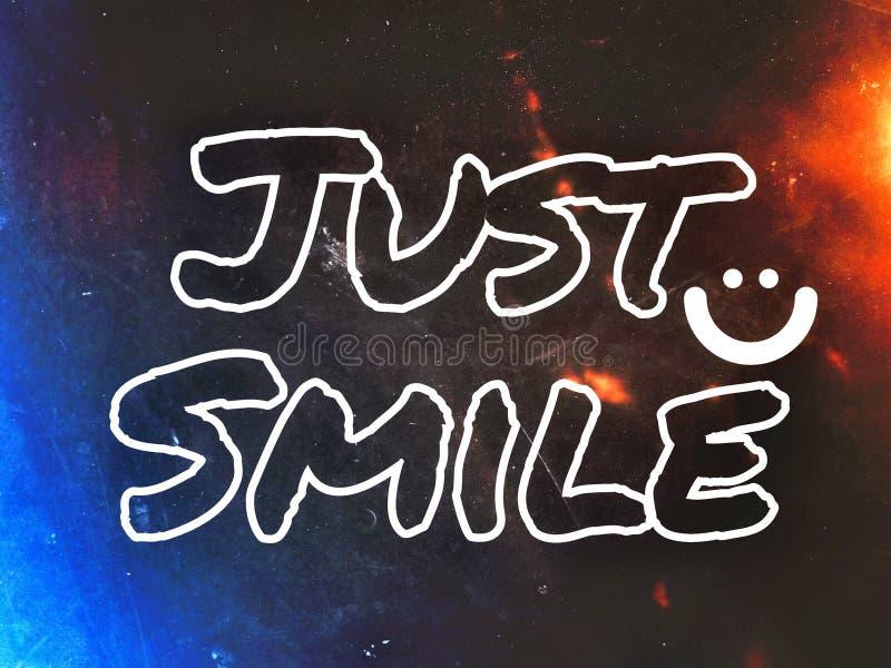 Sorriso felice della carta da parati appena con l'icona del sorriso illustrazione vettoriale