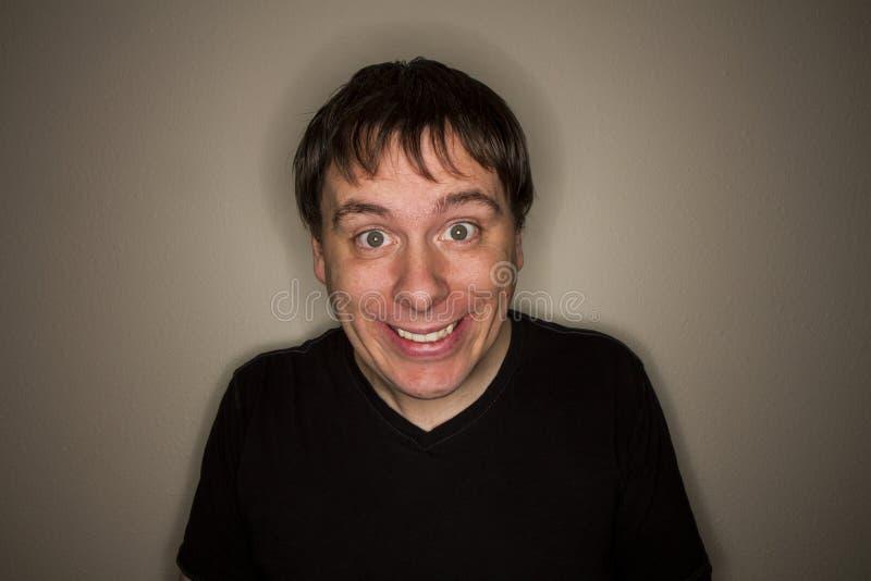 Sorriso felice terrificante fotografia stock