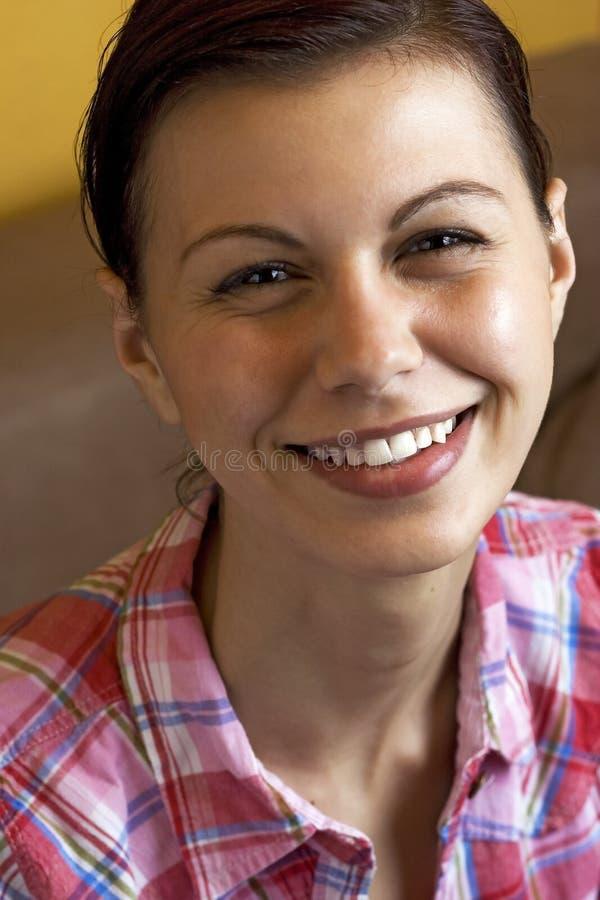 Sorriso feliz da mulher fotos de stock