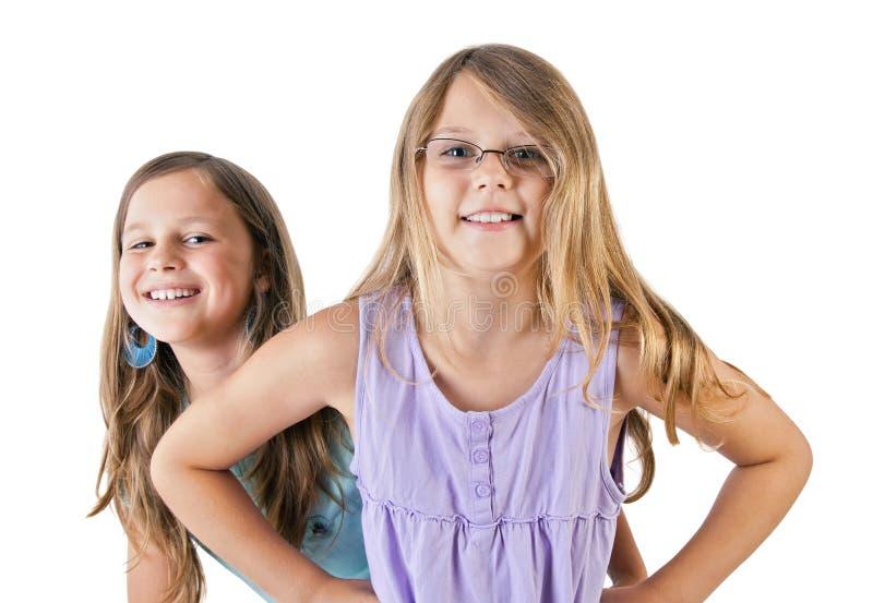 Meninas felizes imagem de stock