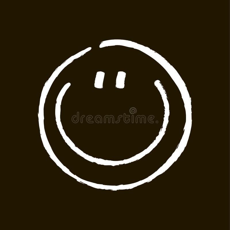 Sorriso giz-tirado de sorriso ilustração do vetor
