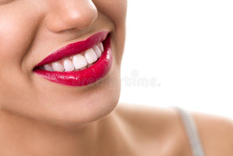 Sorriso largo com dentes saudáveis fotos de stock royalty free