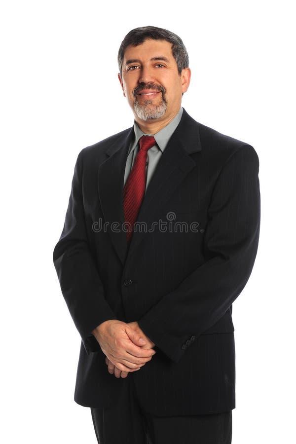 Sorriso latino-americano do homem de negócios foto de stock royalty free