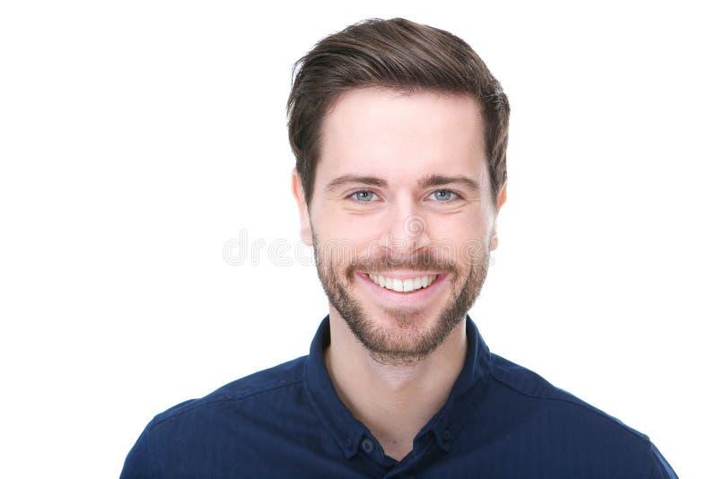 Sorriso masculino feliz do modelo de forma imagens de stock royalty free