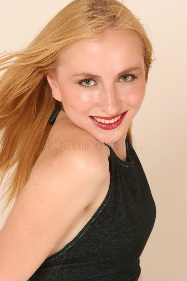 Download Sorriso modelo foto de stock. Imagem de menina, cabelo - 200428