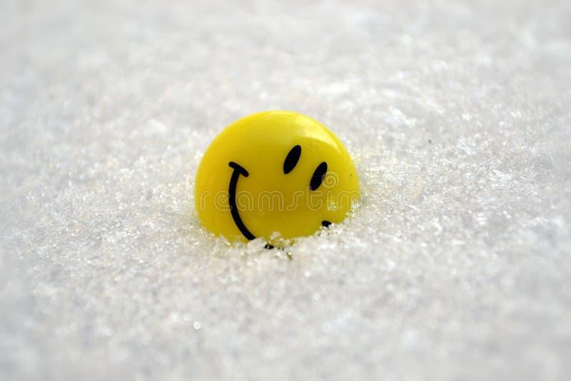 Sorriso na neve imagem de stock royalty free