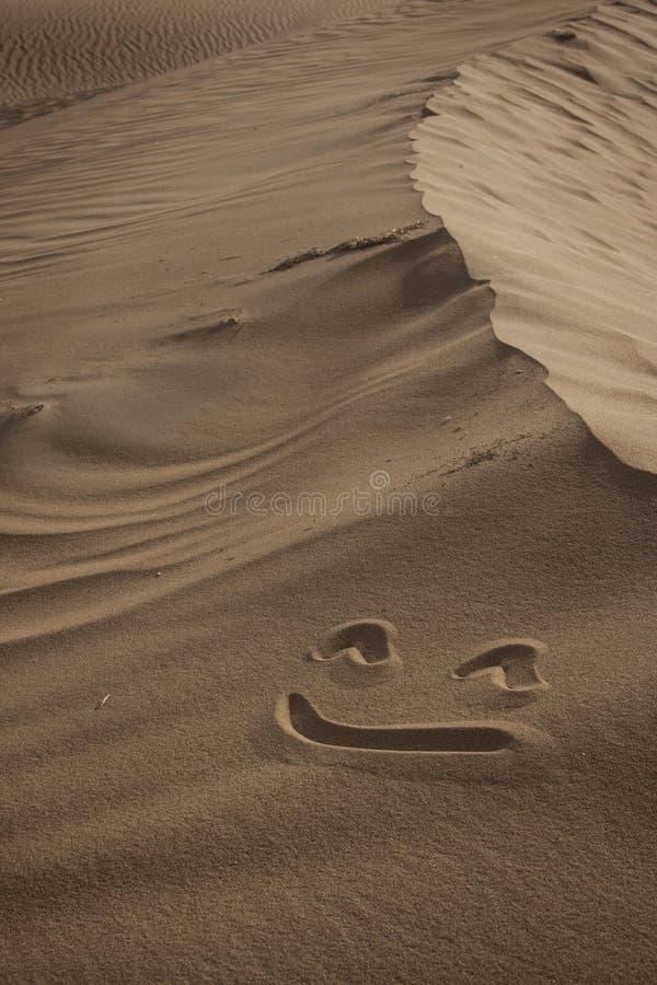 Sorriso nel deserto fotografia stock