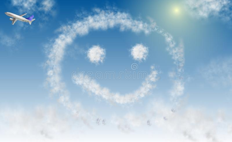 Sorriso no céu ilustração royalty free