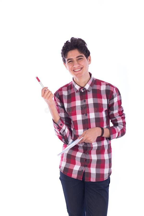 Sorriso novo do estudante fotos de stock