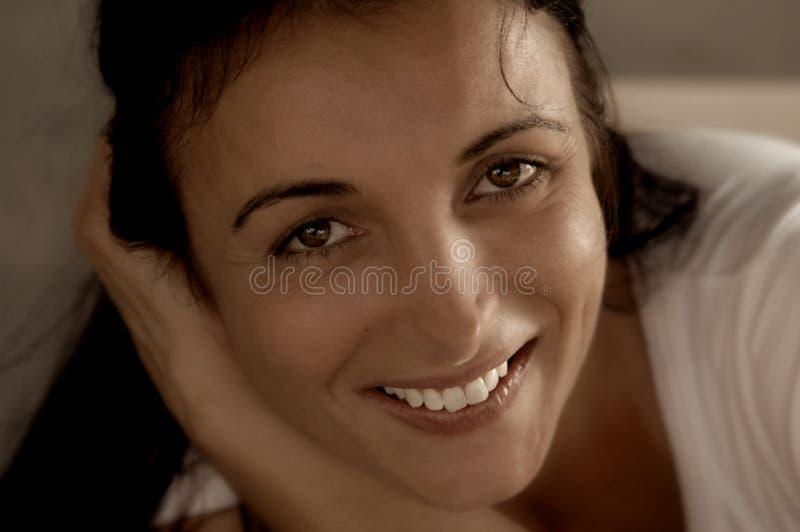 Sorriso radiante immagini stock libere da diritti