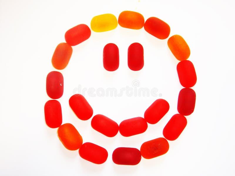 sorriso rosso fotografie stock