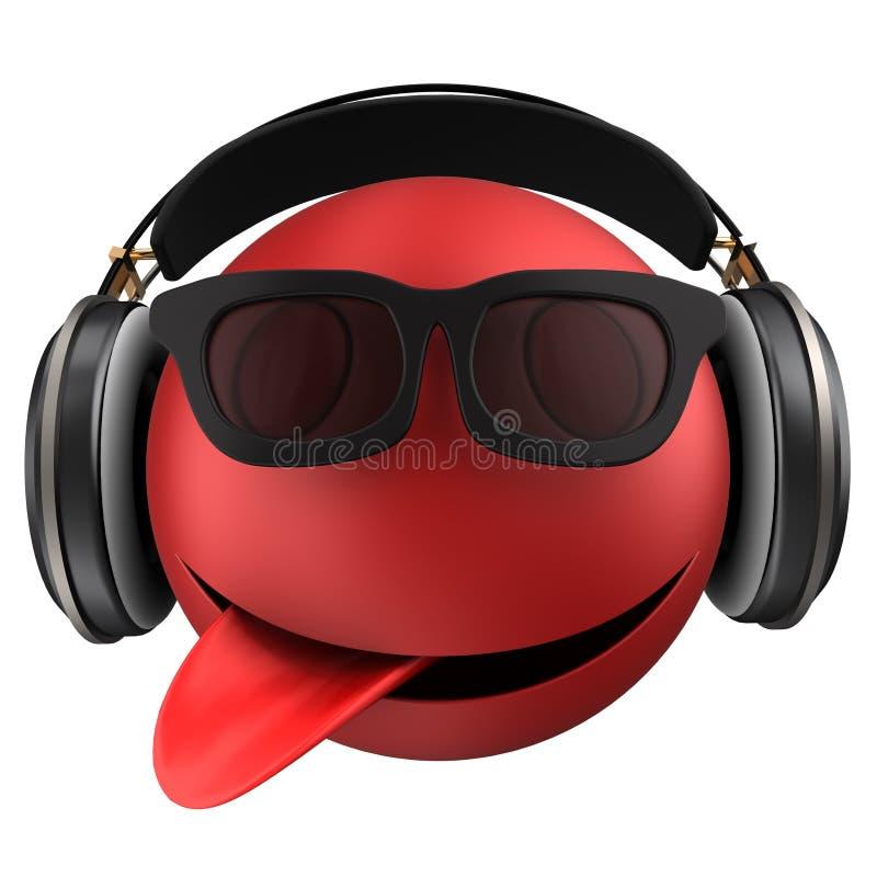 sorriso rosso dell'emoticon 3d royalty illustrazione gratis