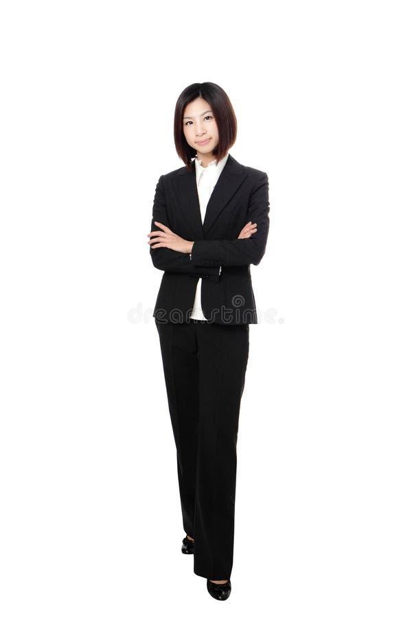 Sorriso sicuro integrale della donna di affari fotografie stock