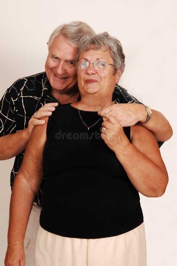 Sorriso superior dos pares. fotografia de stock