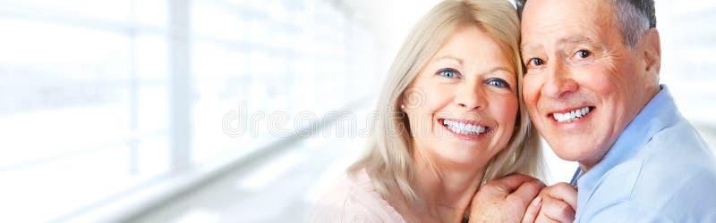 Sorriso superior dos pares imagem de stock royalty free