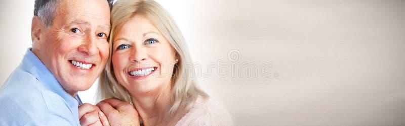 Sorriso superior dos pares foto de stock royalty free
