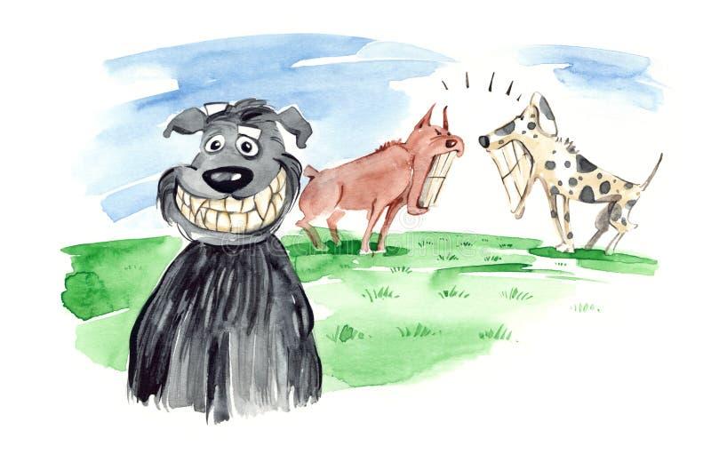 Sorriso toothy del cane illustrazione vettoriale