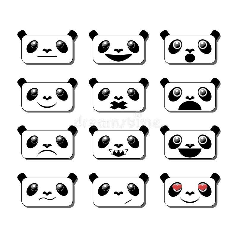 Sorrisos da panda ilustração do vetor