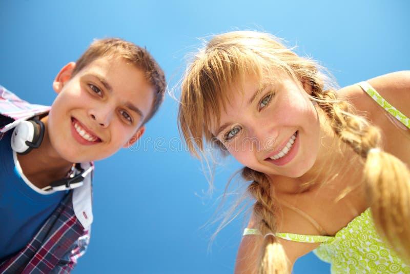 Sorrisos Toothy Imagens de Stock
