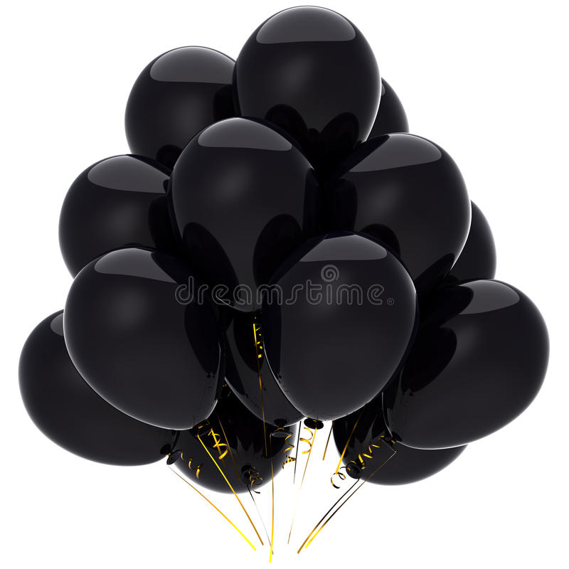 Sorrow Black Balloons (Hi-Res) Stock Image