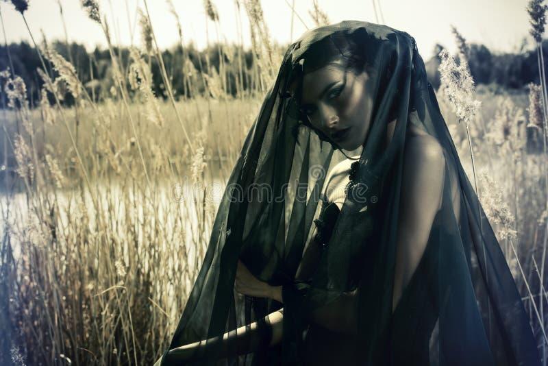 Sorrowful lady royalty free stock photo